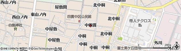 愛知県稲沢市祖父江町四貫(中四貫)周辺の地図