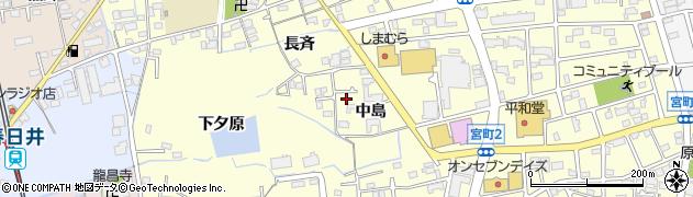 愛知県春日井市宮町(中島)周辺の地図