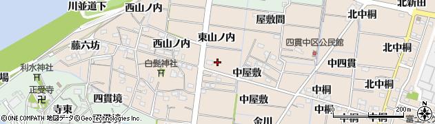 愛知県稲沢市祖父江町四貫(東山ノ内)周辺の地図