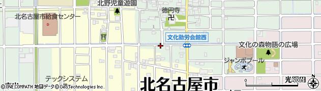 愛知県北名古屋市法成寺(南出)周辺の地図