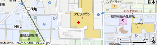 愛知県稲沢市天池五反田町周辺の地図