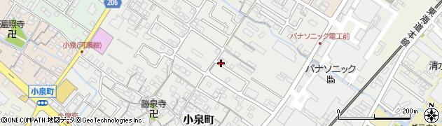 滋賀県彦根市小泉町周辺の地図