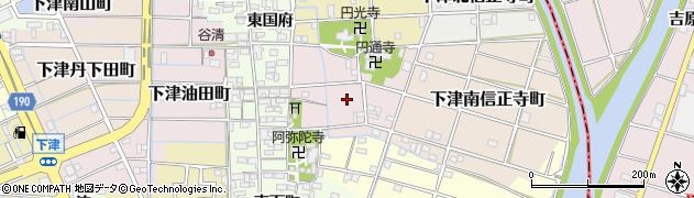 愛知県稲沢市下津寺前町周辺の地図