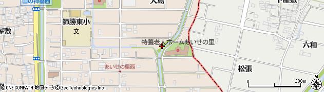 愛知県北名古屋市六ツ師(島先)周辺の地図