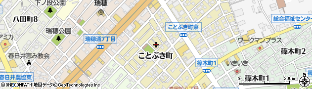 愛知県春日井市ことぶき町周辺の地図