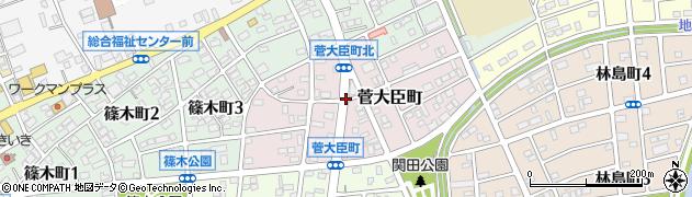 愛知県春日井市菅大臣町周辺の地図