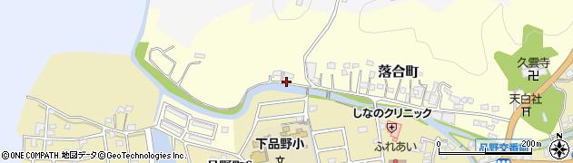 愛知県瀬戸市落合町周辺の地図