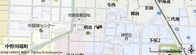 愛知県稲沢市浅井町(八神)周辺の地図