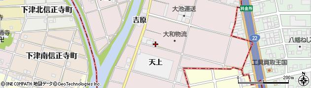 愛知県一宮市丹陽町五日市場(天上)周辺の地図
