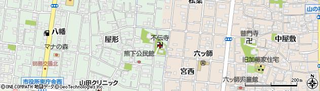 不伝寺周辺の地図