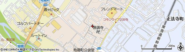 滋賀県彦根市地蔵町周辺の地図