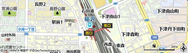 愛知県稲沢市下津町(北六反田)周辺の地図