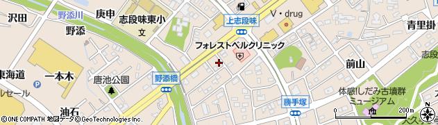 愛知県名古屋市守山区上志段味(羽根前)周辺の地図