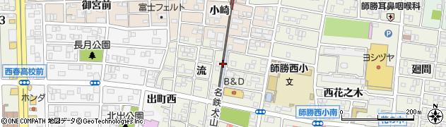 愛知県北名古屋市鹿田北流周辺の地図