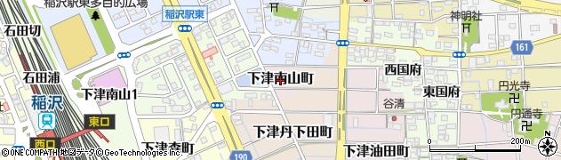 愛知県稲沢市下津南山町周辺の地図