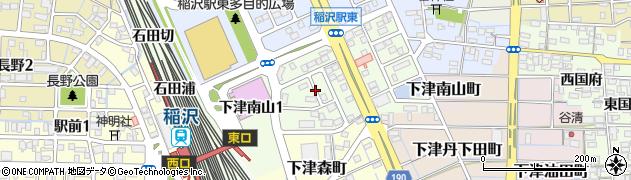 愛知県稲沢市下津南山周辺の地図