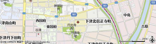 愛知県稲沢市下津土山町周辺の地図
