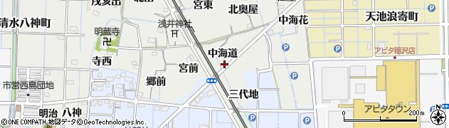 愛知県稲沢市浅井町(中海道)周辺の地図