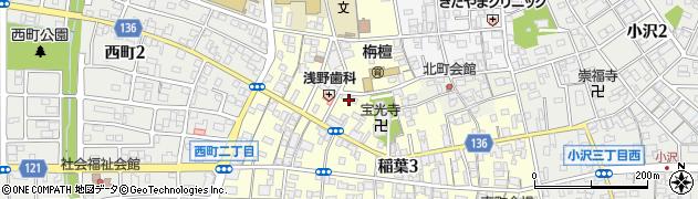 愛知県稲沢市稲葉周辺の地図