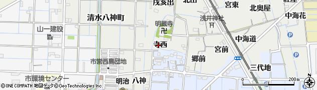 愛知県稲沢市浅井町(寺西)周辺の地図
