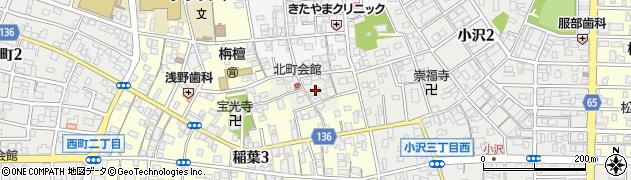 愛知県稲沢市稲沢町(札ノ辻)周辺の地図