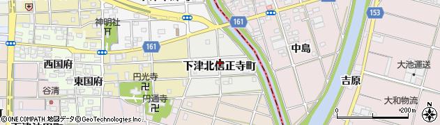 愛知県稲沢市下津北信正寺町周辺の地図