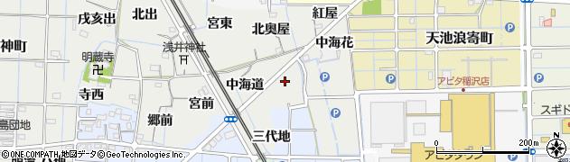 愛知県稲沢市浅井町(南奥屋)周辺の地図