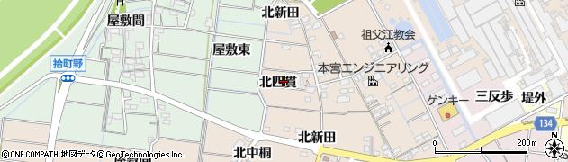 愛知県稲沢市祖父江町四貫(北四貫)周辺の地図