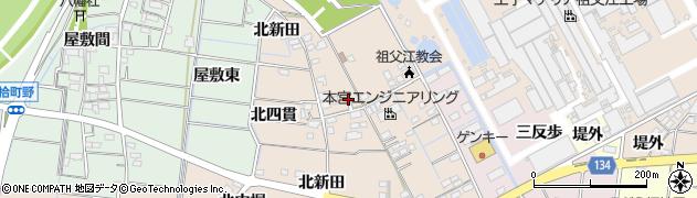 愛知県稲沢市祖父江町四貫(東堤外)周辺の地図