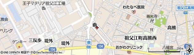 愛知県稲沢市祖父江町祖父江(曲)周辺の地図
