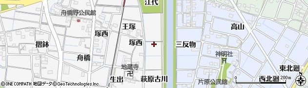 愛知県稲沢市祖父江町山崎(萩原古川)周辺の地図