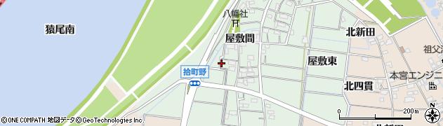 愛知県稲沢市祖父江町拾町野周辺の地図
