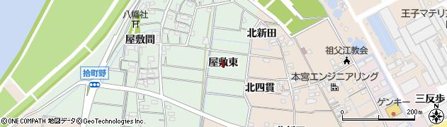 愛知県稲沢市祖父江町拾町野(屋敷東)周辺の地図