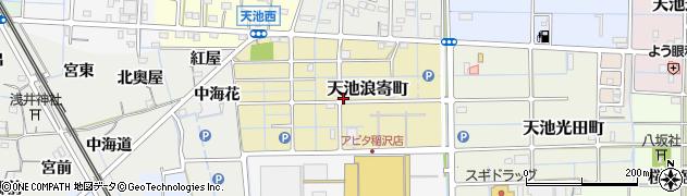 愛知県稲沢市天池浪寄町周辺の地図