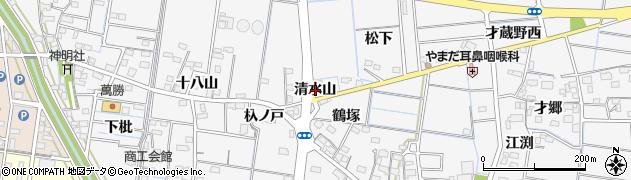 愛知県稲沢市祖父江町山崎(清水山)周辺の地図