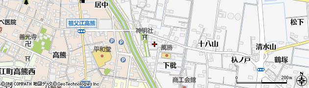 愛知県稲沢市祖父江町山崎(宮附)周辺の地図