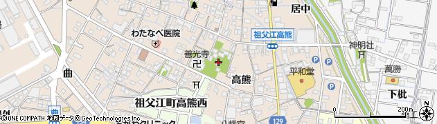 祖父江善光寺周辺の地図
