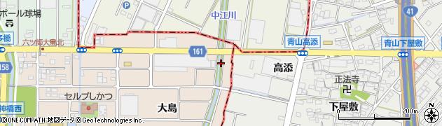 愛知県北名古屋市六ツ師(北大島)周辺の地図