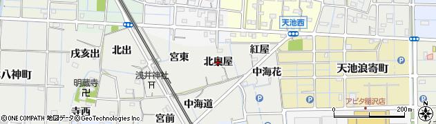 愛知県稲沢市浅井町(北奥屋)周辺の地図