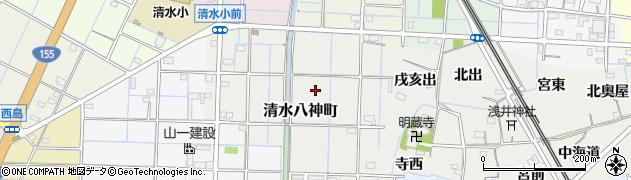 愛知県稲沢市清水八神町周辺の地図