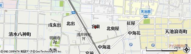 愛知県稲沢市浅井町(宮東)周辺の地図