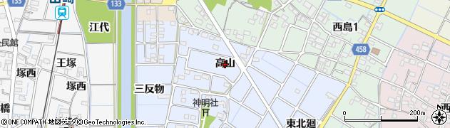 愛知県稲沢市片原一色町(高山)周辺の地図