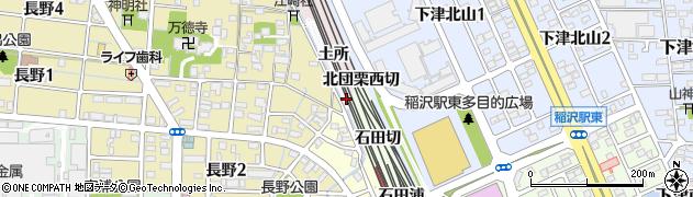 愛知県稲沢市長野町(追取)周辺の地図