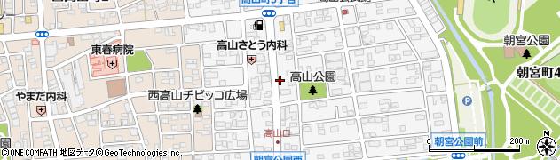 愛知県春日井市高山町周辺の地図