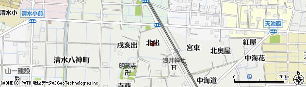 愛知県稲沢市浅井町(北出)周辺の地図
