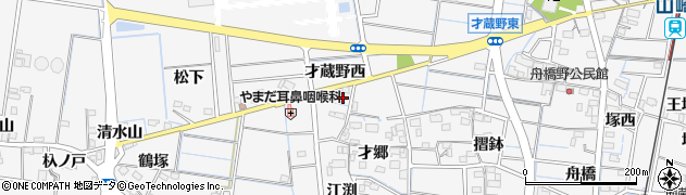 愛知県稲沢市祖父江町山崎(塩屋)周辺の地図