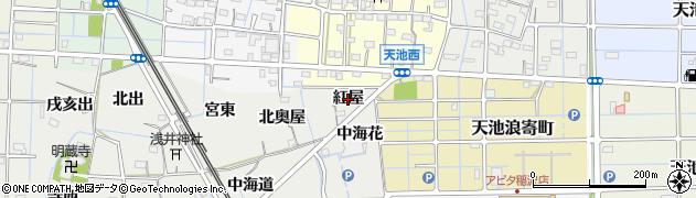 愛知県稲沢市浅井町(紅屋)周辺の地図