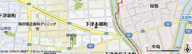 愛知県稲沢市下津本郷町周辺の地図