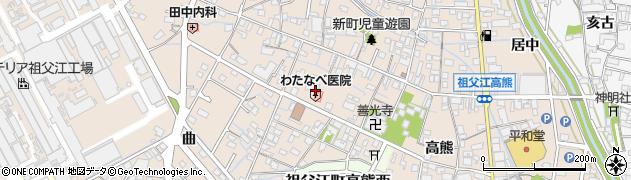 愛知県稲沢市祖父江町祖父江(南川原)周辺の地図