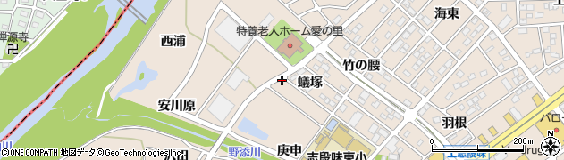 愛知県名古屋市守山区上志段味(蟻塚)周辺の地図
